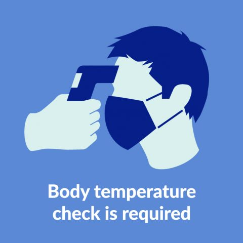 Body temperature check is required